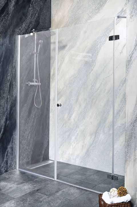 Sanotechnik - SYMPHONY - Sprchové dvere do výklopného výklenku, pravé 140 x 195 cm