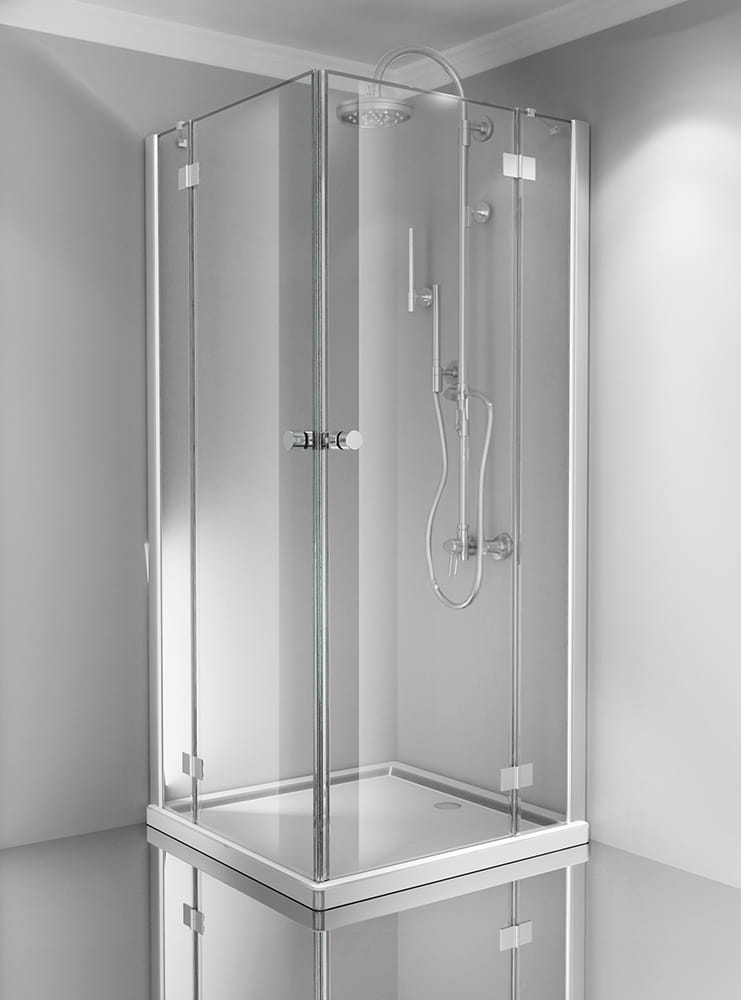 Sanotechnik - SMARTFLEX - Rohový obdĺžnikový sprchový kút 100 x 120 x 195 cm