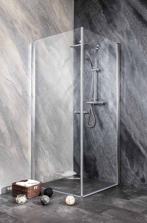 Sanotechnik - BRAVA - Rohový štvorcový sprchový kút 70 x 70 cm