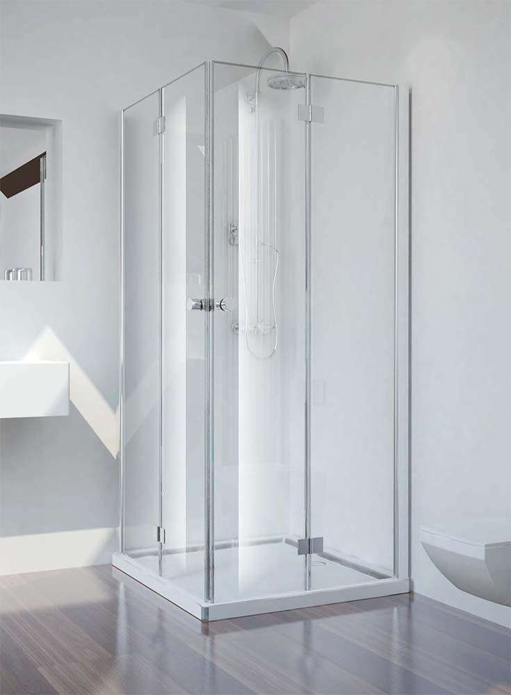 Sanotechnik - SMARTFLEX - Rohový sprchový kút štvorcový pravý 80 x 80 x 195 cm