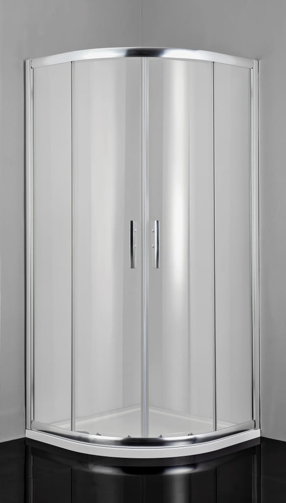 Sanotechnik - PRO-LINE - Rohový sprchový kút, štvrťkruhový, 100 x 100 x 200 cm, číre sklo
