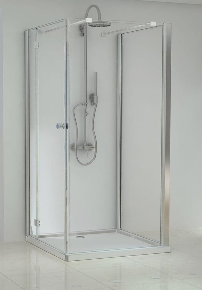 Sanotechnik - ELEGANCE - Nástenný sprchový kút, obdĺžnikový, ľavý 80 x 100 x 195 cm