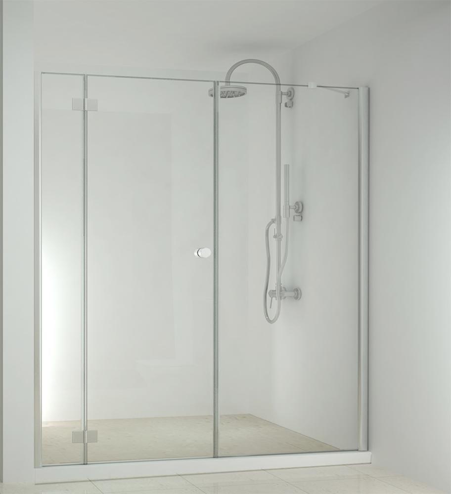 Sanotechnik - SMARTFLEX - Sprchové dvere do výkyvného výklenku, ľavé 220 x 195 cm