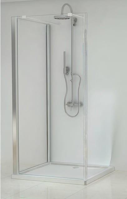Sanotechnik - ELEGANCE - Sprchovací kút Square Walk-in 100 x 100 x 195 cm