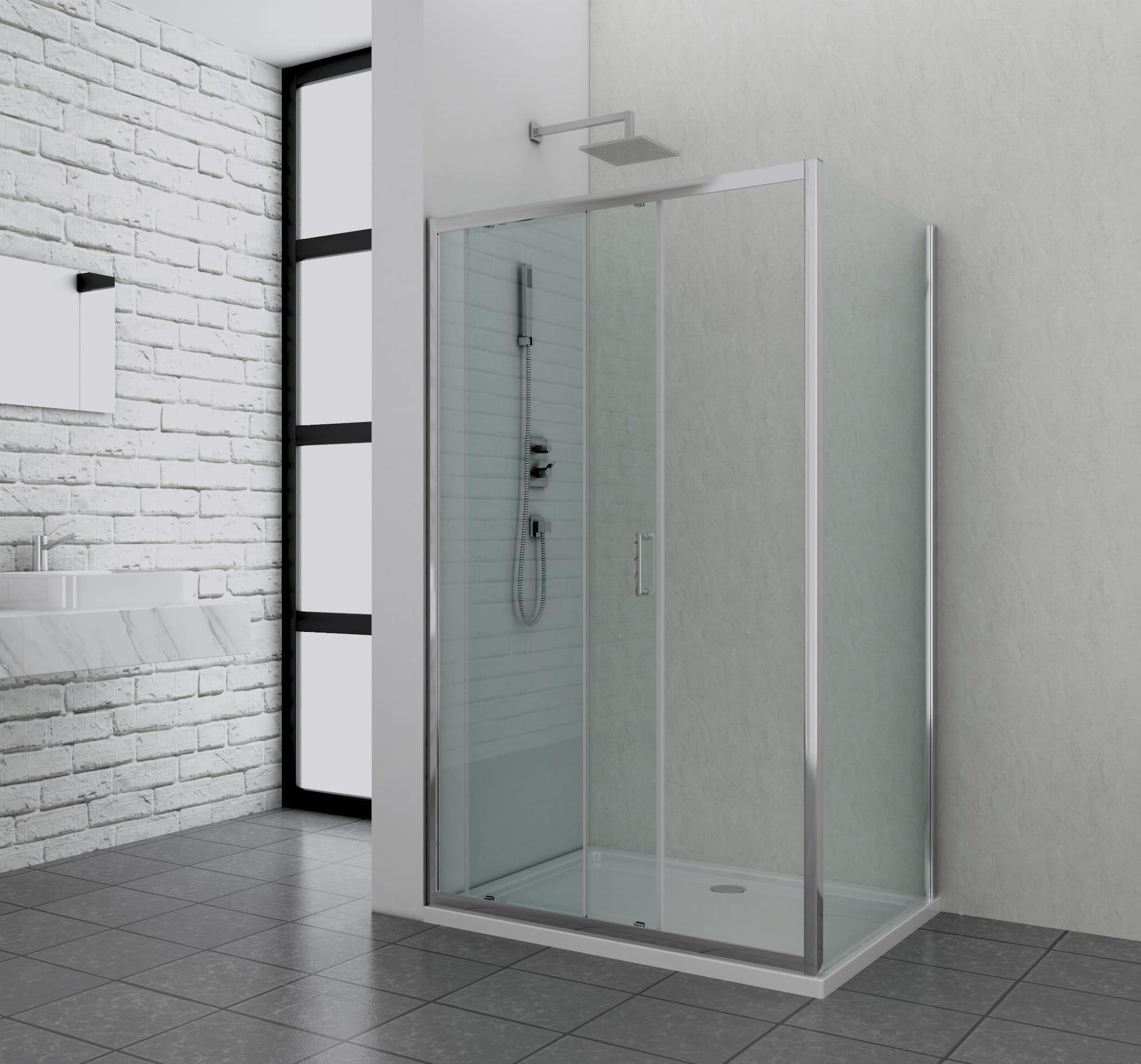 Sanotechnik - ELITE CHROME - Sprchová kút, posuvné dvere 120 x 80 x 195 cm