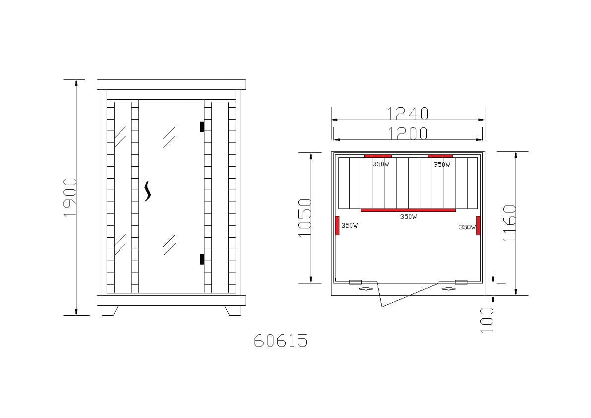 Sanotechnik - CARMEN Infračervená sauna pre 2 osoby 124x116 cm 60615