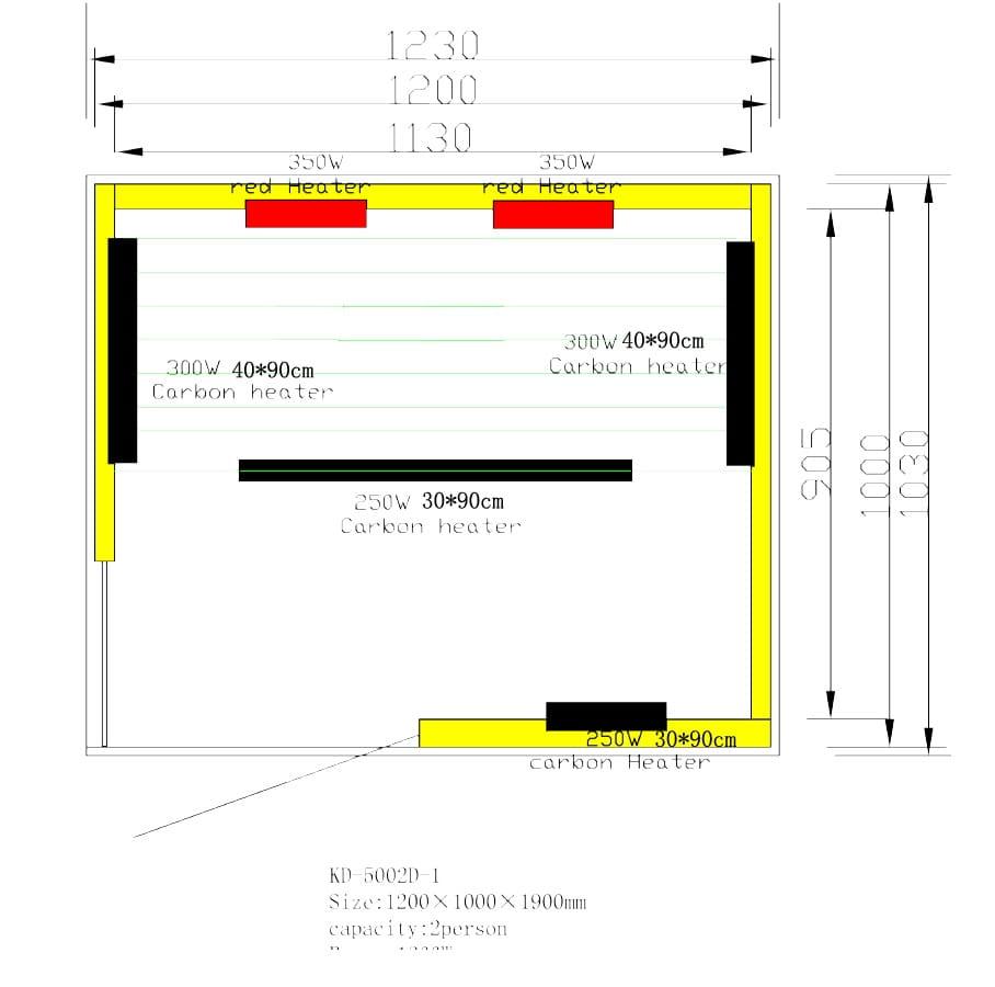 Sanotechnik - TRENDY Infrasauna pre 2 osoby 123x103x190 cm H30380