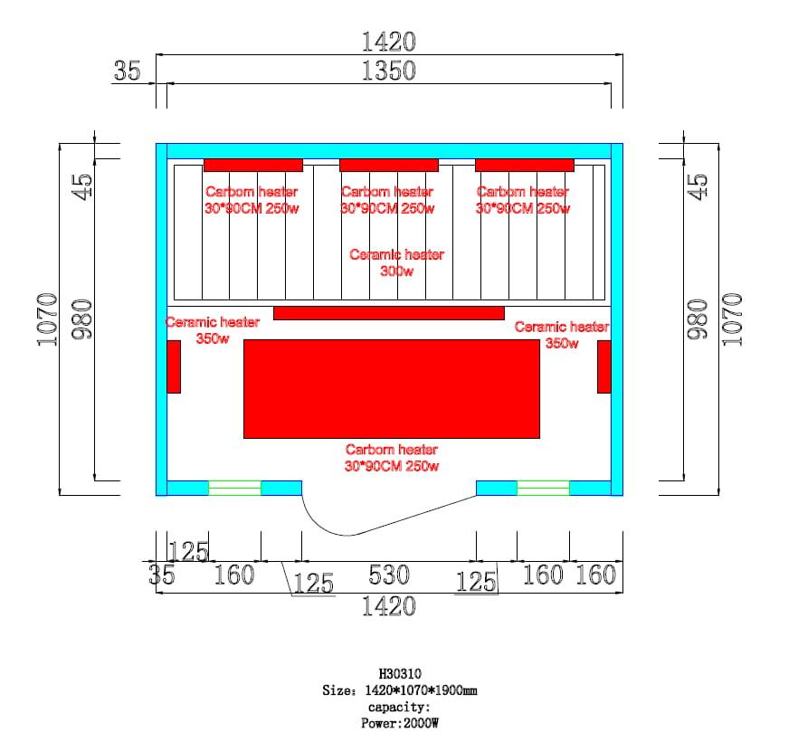 Sanotechnik - CALIPSO Infrasauna pre 2 osoby 142x107 cm H30310