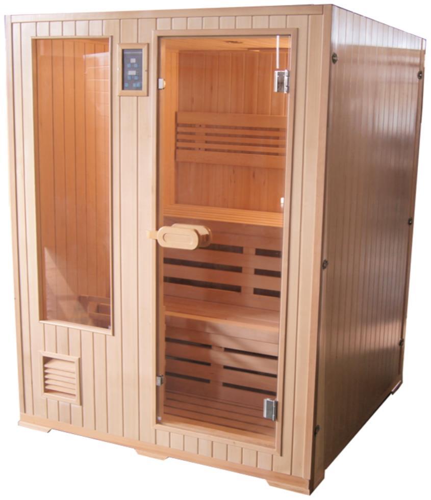 HELSINKI fínska sauna pre 3 osoby 152x152 cm