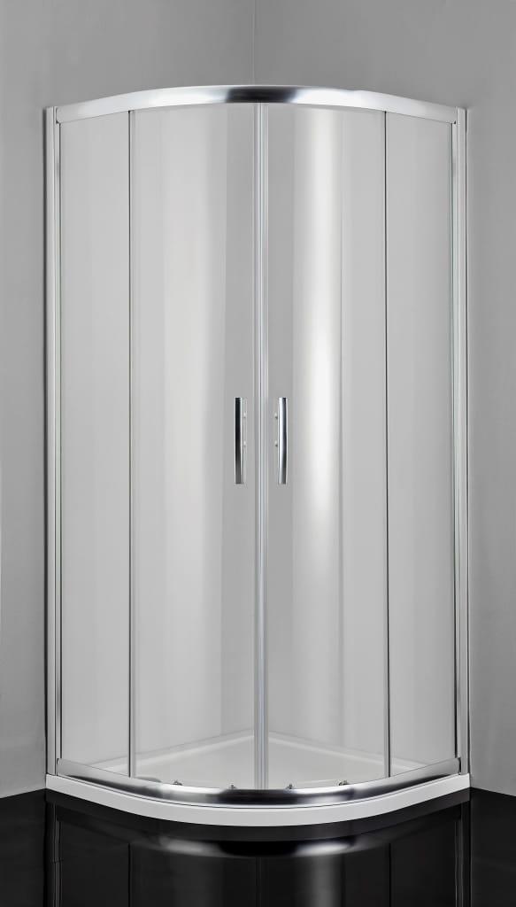 Sanotechnik - PRO-LINE - Rohový sprchový kút, štvrťkruhový, 90 x 90 x 200 cm, číre sklo
