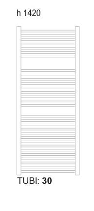 Sanotechnik - WELS - Kúpeľňový radiátor biely 636 W 60 x 142 cm