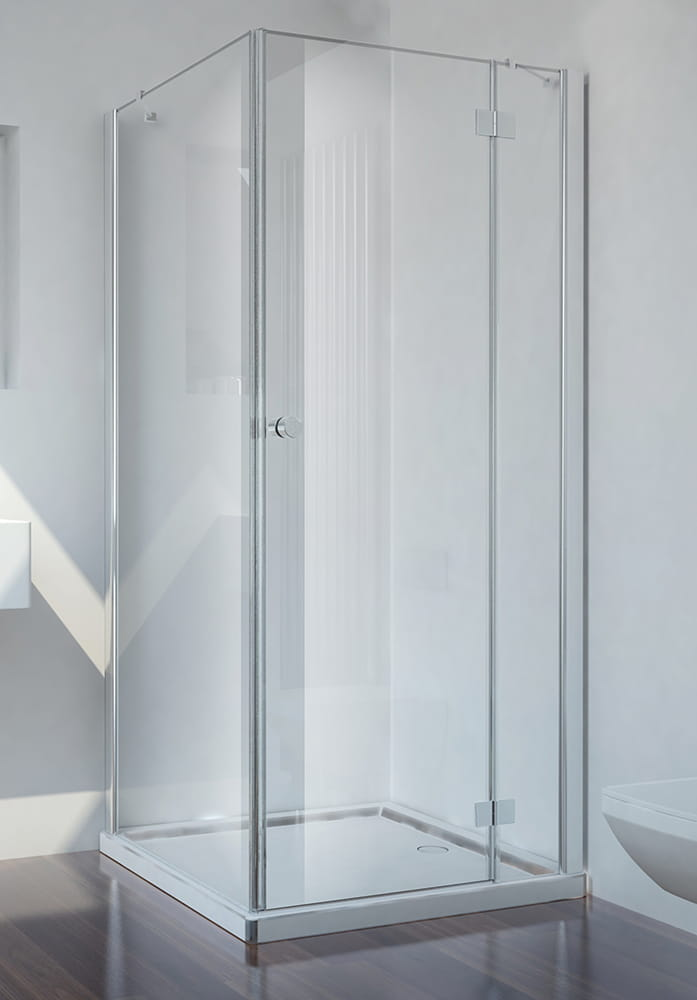 Sanotechnik - SMARTFLEX - Rohový obdĺžnikový sprchový kút, pravý 100 x 80 x 195 cm