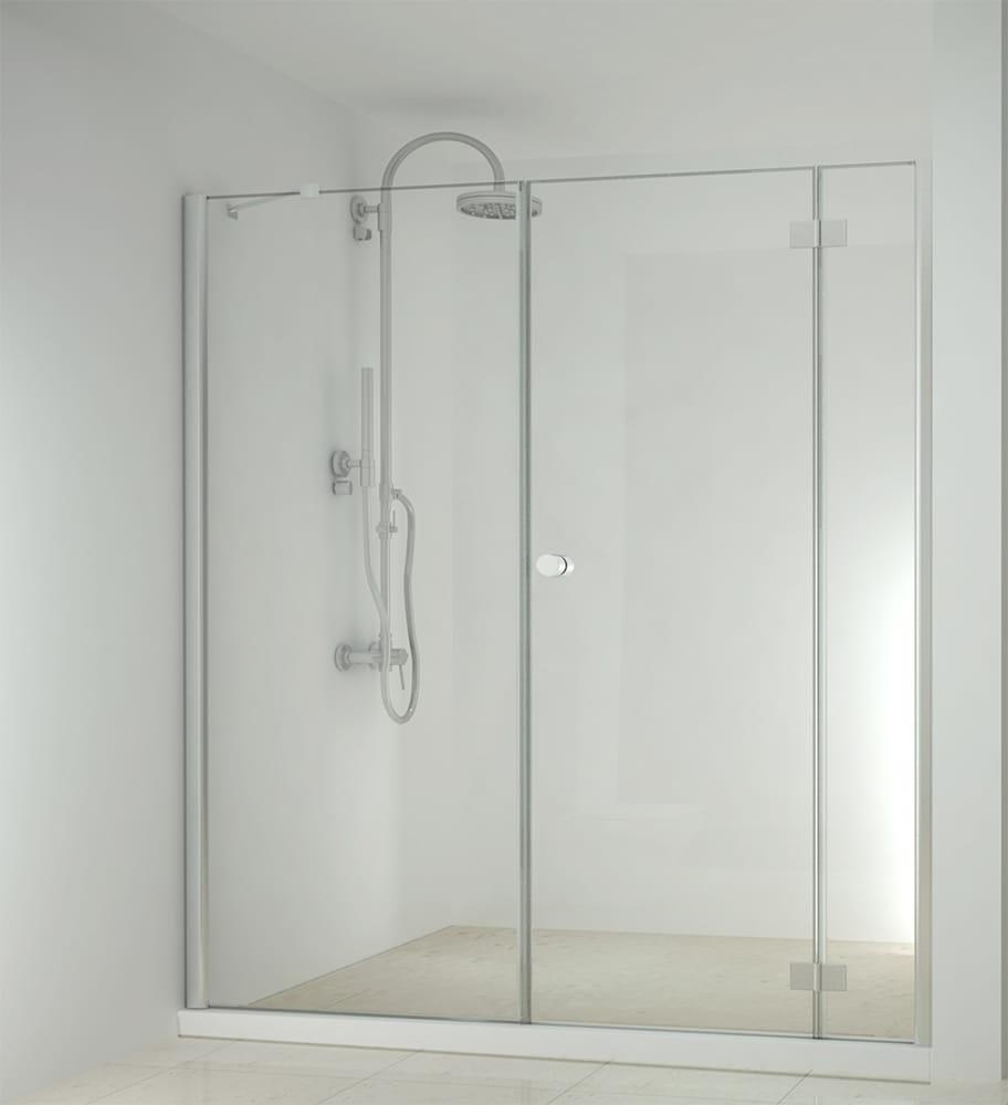 Sanotechnik - SMARTFLEX - Sprchové dvere do výklopného výklenku, pravé 190 x 195 cm