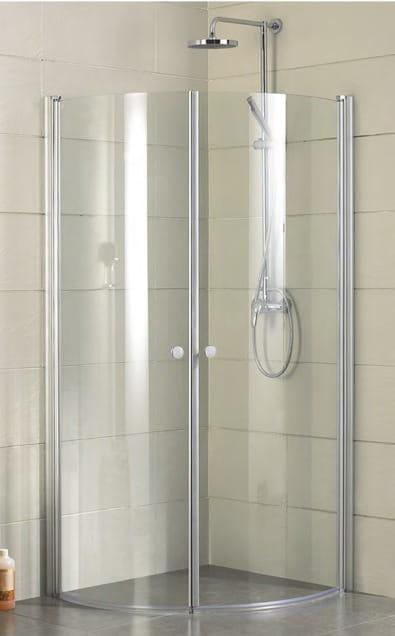 Sanotechnik - ELEGANCE - Rohový sprchovací kút štvrťkruhový 90 x 90 x 195 cm