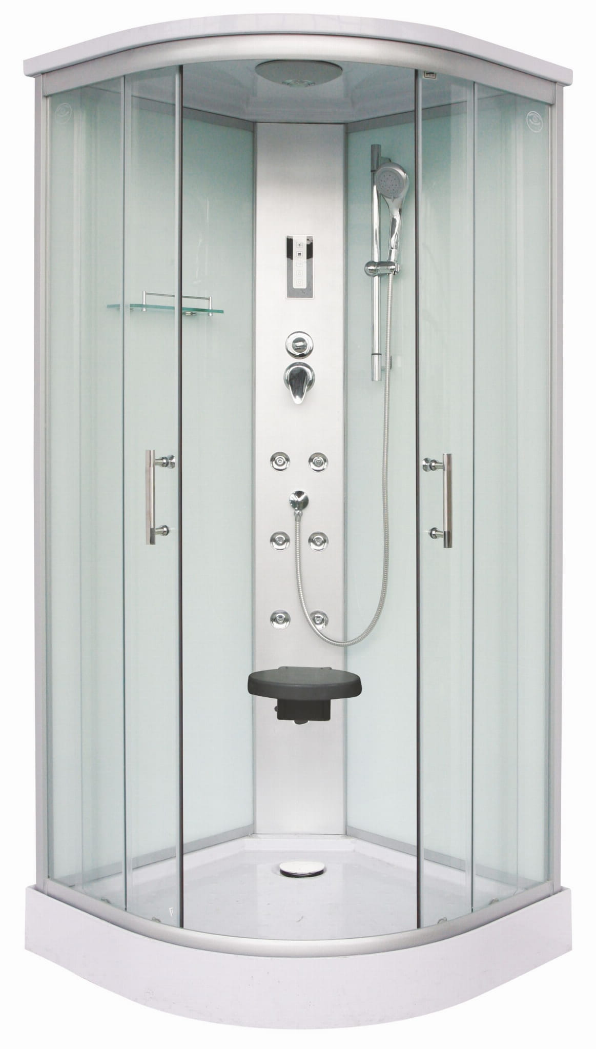 Sanotechnik - QuickLine Scala - sprchový box štvrťkruh 90x90x215cm - biely