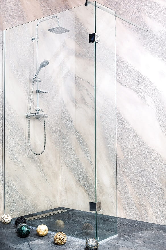 Sanotechnik - WIDE - Rohový sprchový kút so šírkou 130 x 30 cm, výška 195 cm