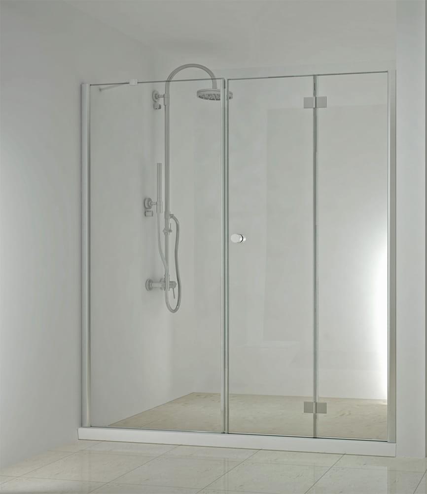 Sanotechnik - SMARTFLEX - Sprchové dvere do výklenku, sklopné, pravé 190 x 195 cm