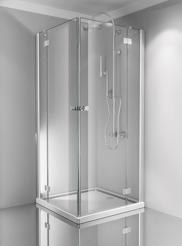 Sanotechnik - SMARTFLEX - Rohový obdĺžnikový sprchový kút 100 x 80 x 195 cm