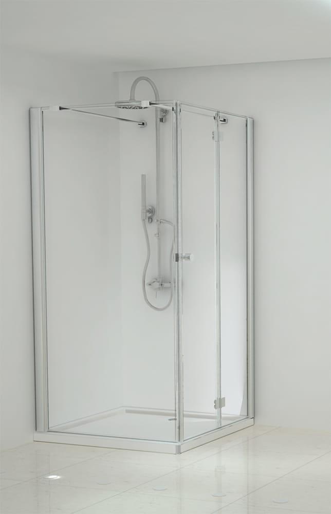 Sanotechnik - ELEGANCE - Rohový obdĺžnikový sprchový kút, pravý, 150 x 80 x 195 cm