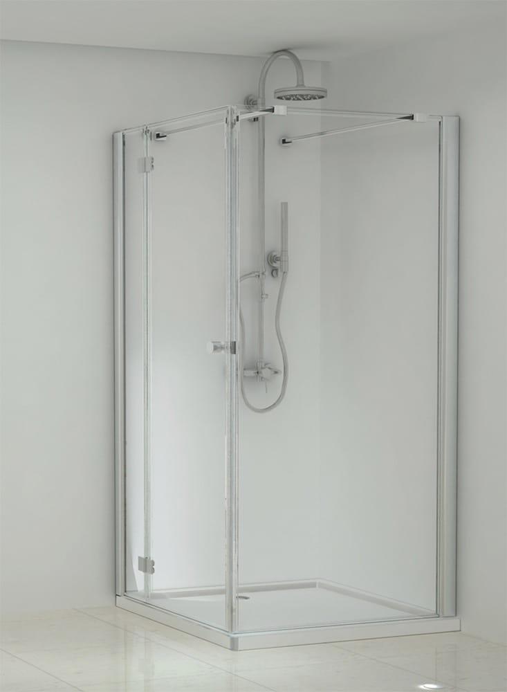 Sanotechnik - ELEGANCE - Rohový štvorcový sprchový kút, ľavý 100 x 100 x 195 cm