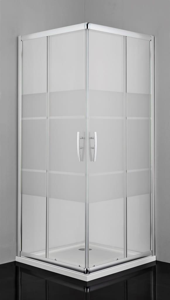 Sanotechnik - PRO-LINE - Obdĺžnikový rohový sprchovací kút 80 x 100 x 200 cm, potlačený