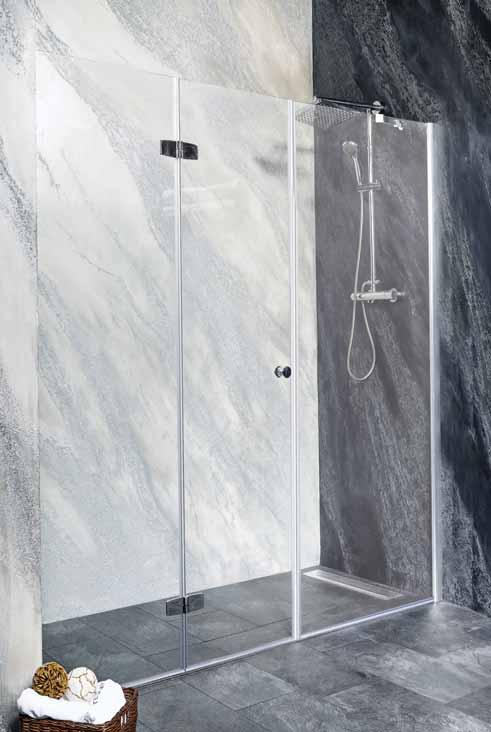 Sanotechnik - DUET - Skladacie sprchové dvere do výklenku, ľavé 170 x 195 cm