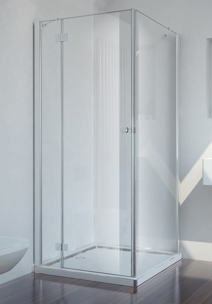 Sanotechnik - SMARTFLEX - Rohový sprchový kút hranatý, ľavý 80 x 80 x 195 cm