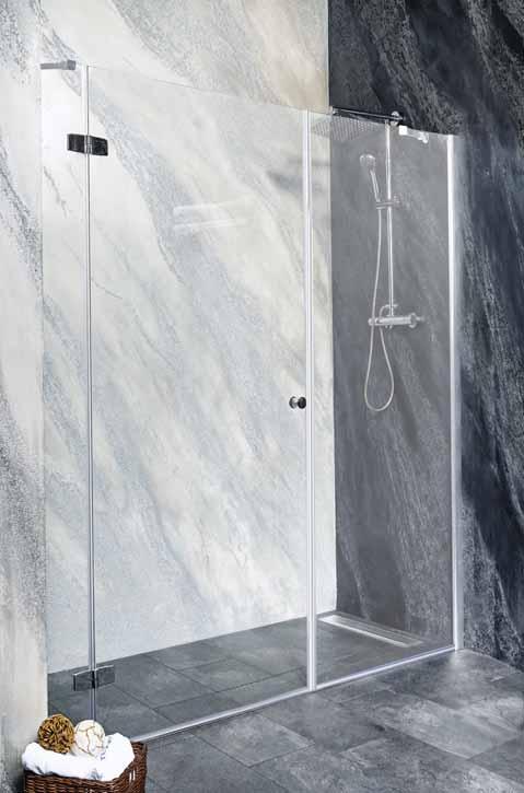 Sanotechnik - SYMPHONY - Sprchové dvere do výklopného výklenku, ľavé 190 x 195 cm