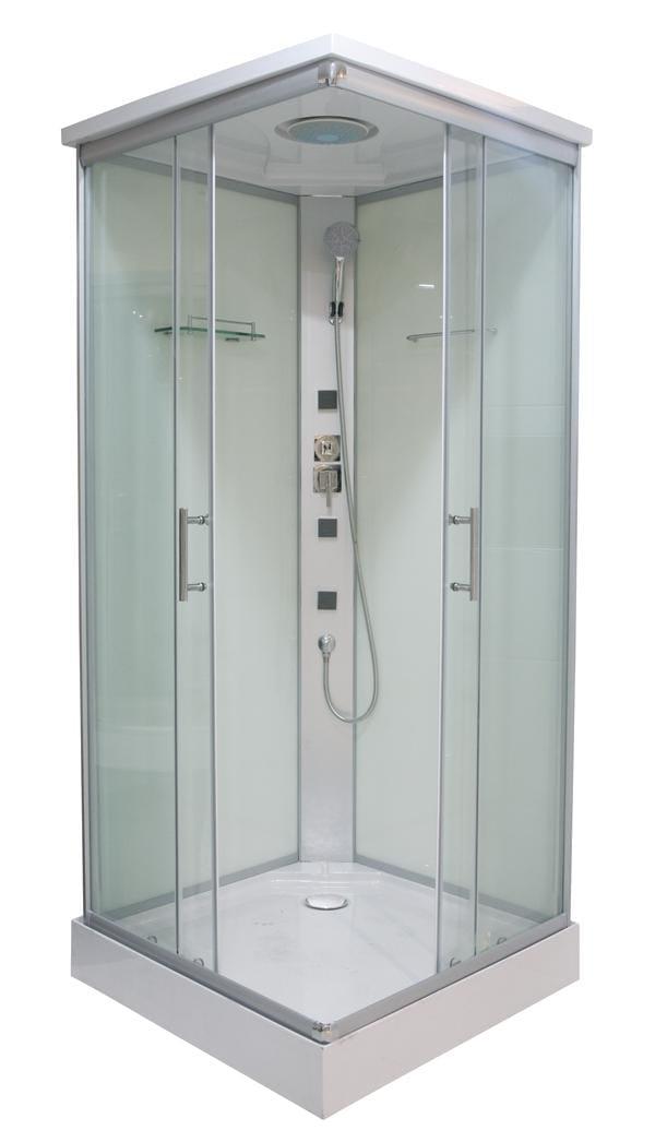 Sanotechnik - TWIST 1 - Rohový sprchovací kút s hydromasážou 80x80x210 cm CL05