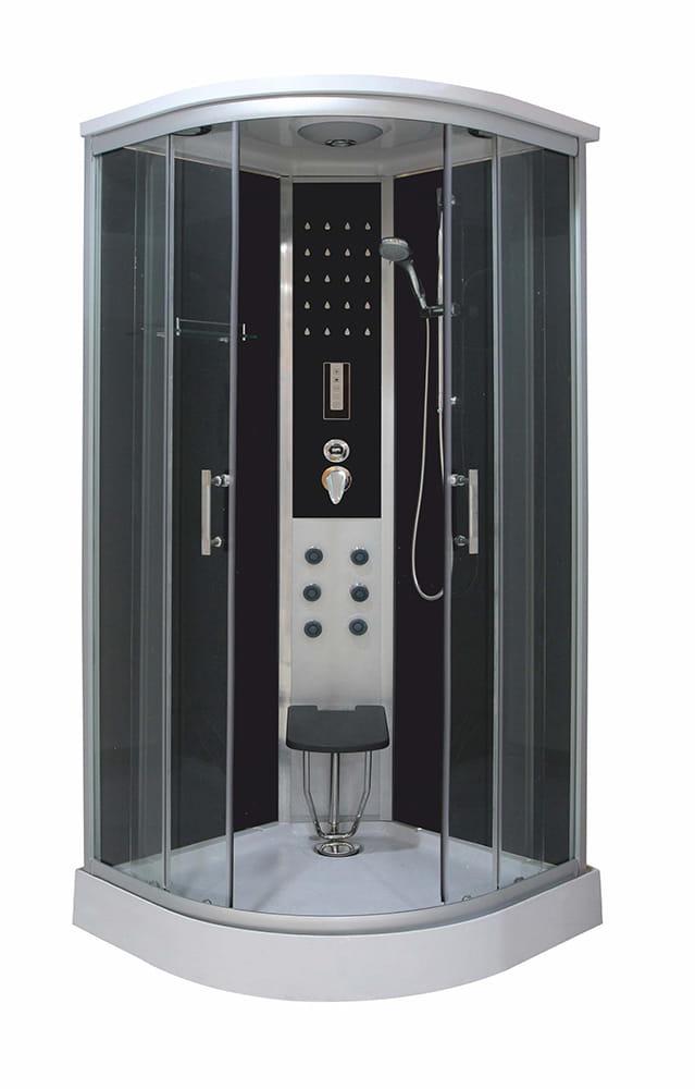 Sanotechnik - DREAM - štvrťkruhový hydromasážny sprchovací kút 90 x 90 x 215 cm