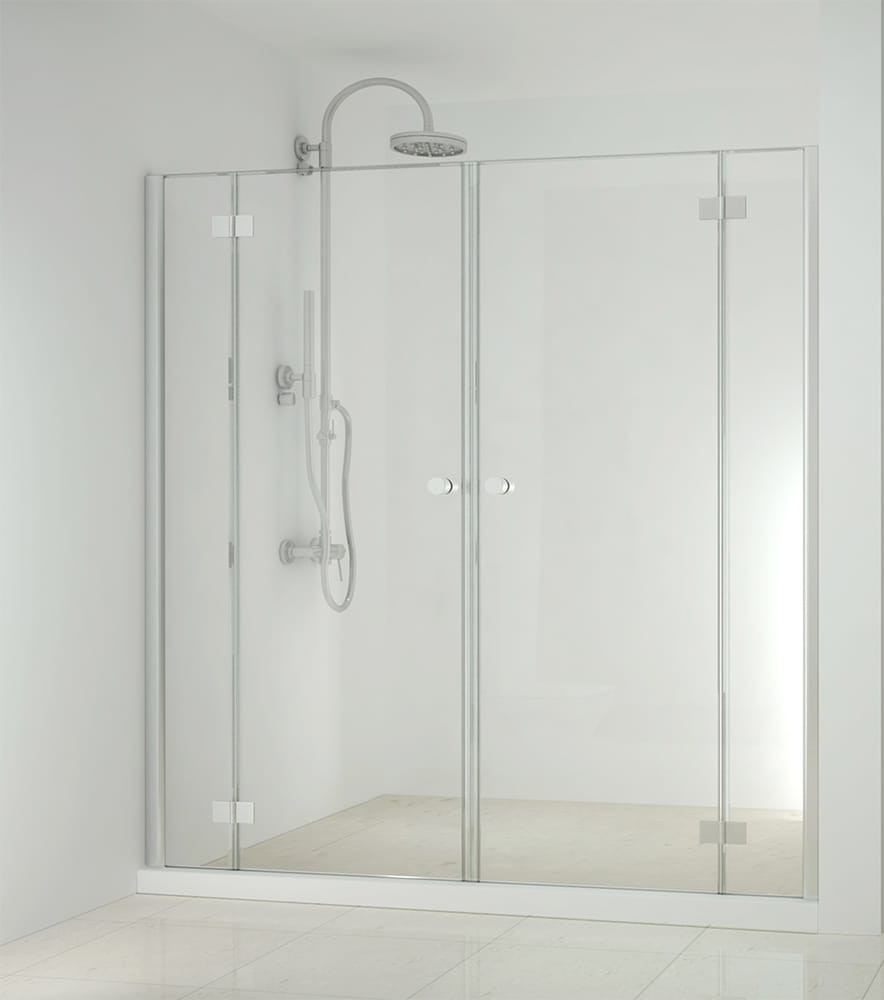 Sanotechnik - SMARTFLEX - Sprchové dvere do výkyvného výklenku, 240 x 195 cm