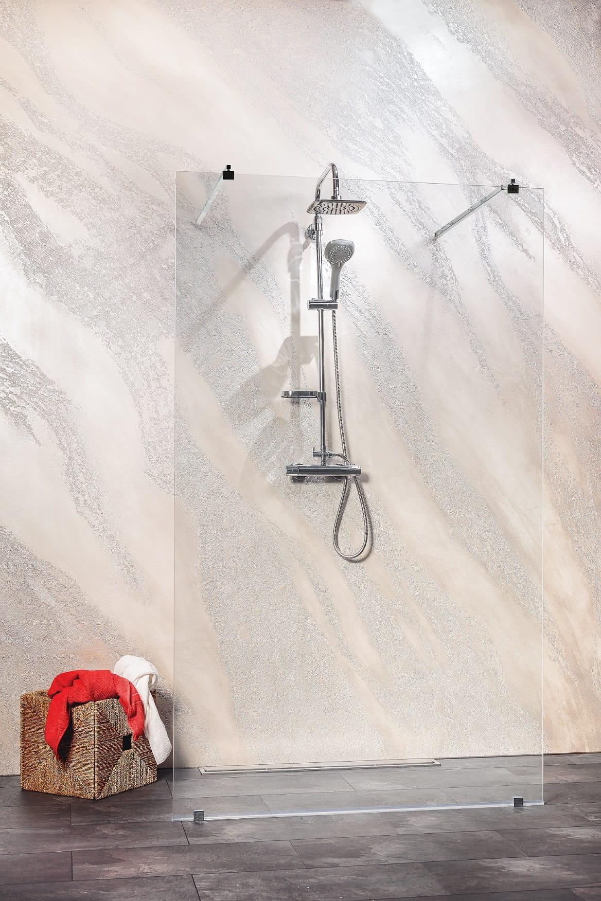 Sanotechnik - FREEDOM - nástenný sprchový kút Walk-in 140 x 195 cm