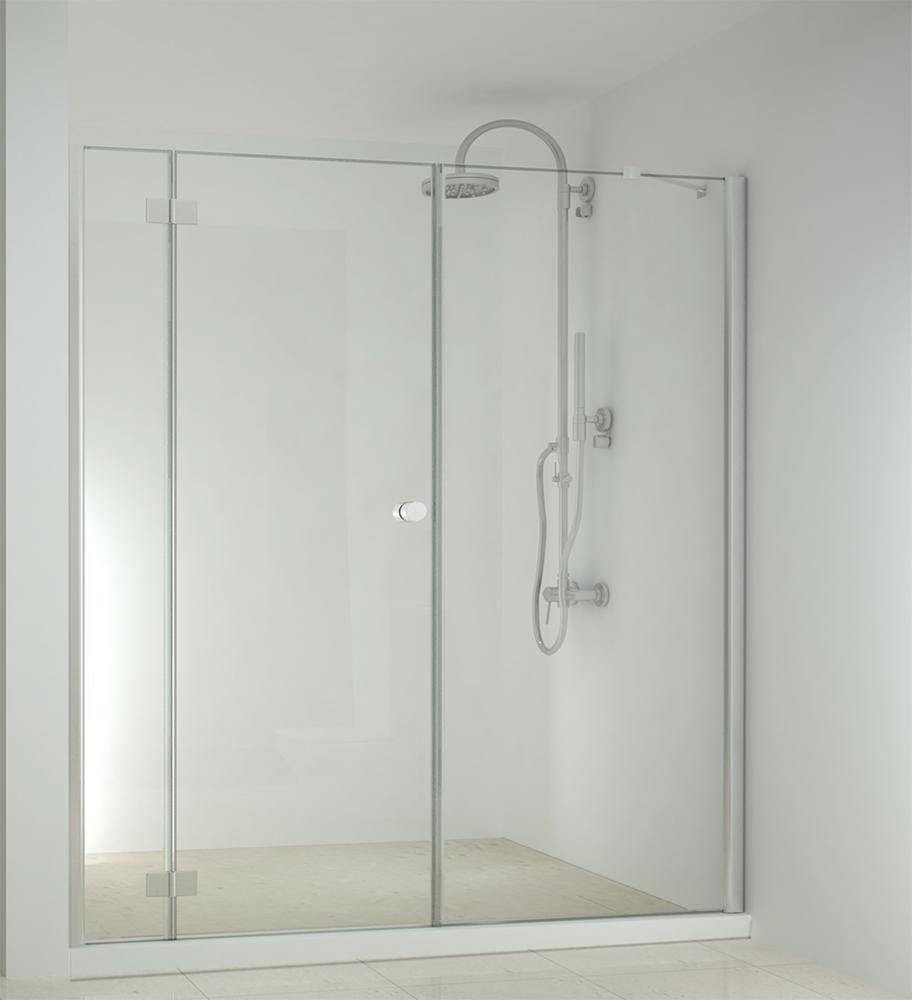 Sanotechnik - SMARTFLEX - Sprchové dvere do výklopného výklenku, ľavé 210 x 195 cm