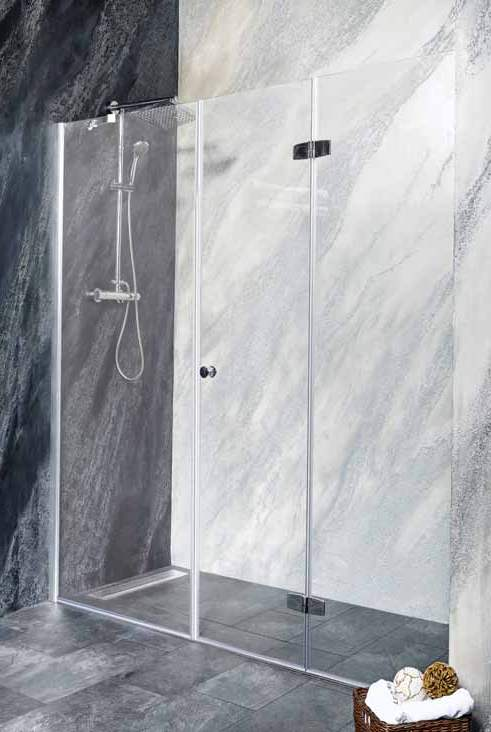 Sanotechnik - DUET - Sklopné sprchové dvere do výklenku, pravé 160 x 195 cm