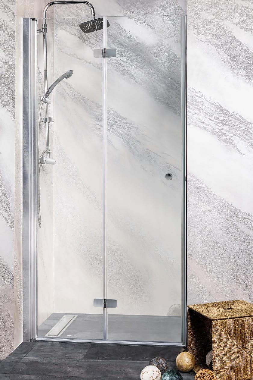 Sanotechnik - DUET - Sprchové dvere do výklenku 90 x 195 cm, sklopné doľava