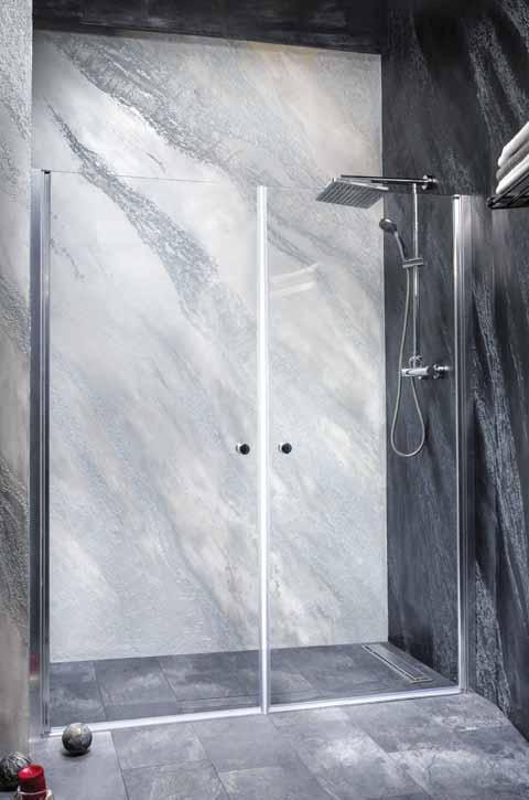 Sanotechnik - BRAVA - Sprchové dvere do výkyvného výklenku 170 x 195 cm