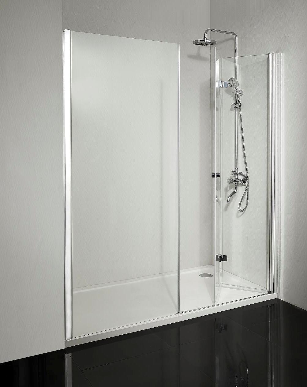 Sanotechnik - SMARTFLEX - Sprchové dvere do výklenku, sklopné, pravé 220 x 195 cm