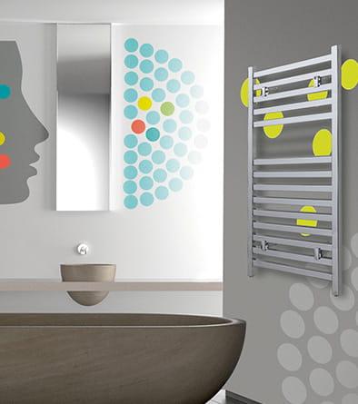 Sanotechnik - WELS - Kúpeľňový radiátor chróm 320 W 60 x 111 cm