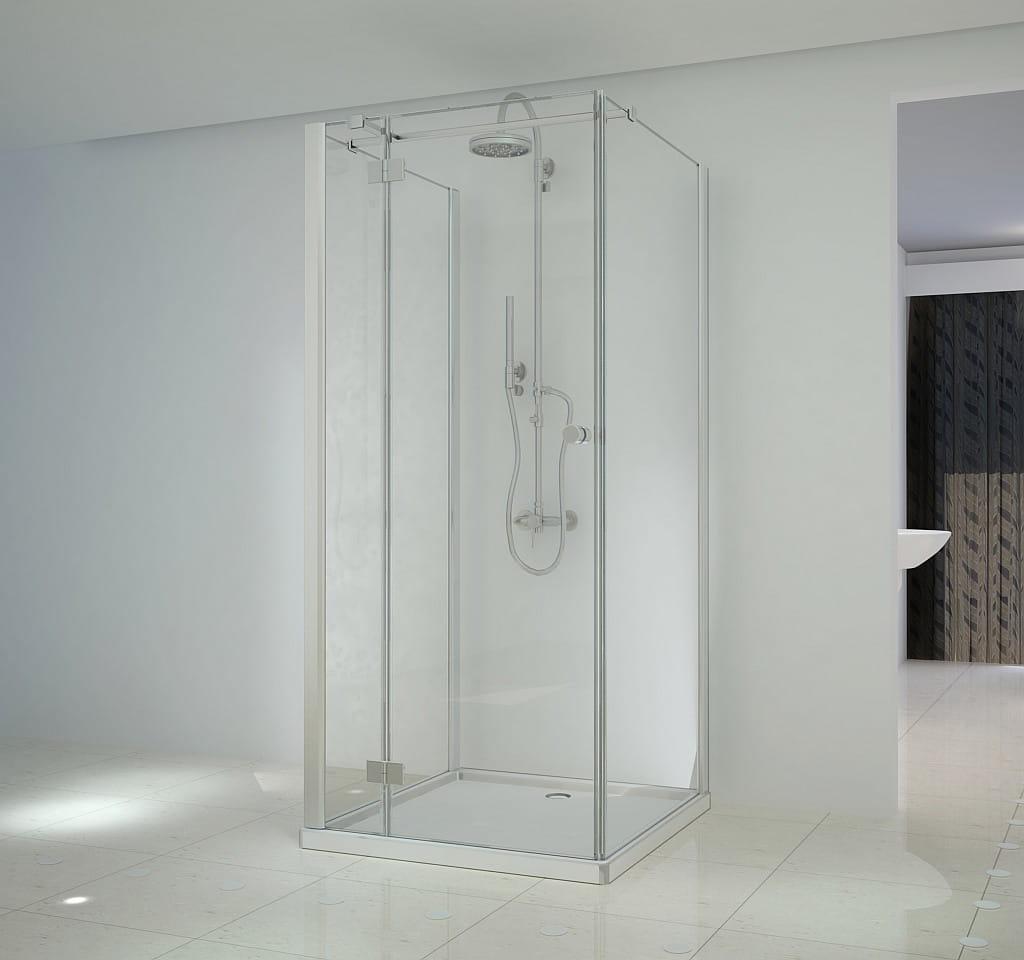 Sanotechnik - SMARTFLEX - Nástenný štvorcový sprchový kút, ľavý, 90 x 90 x 195 cm