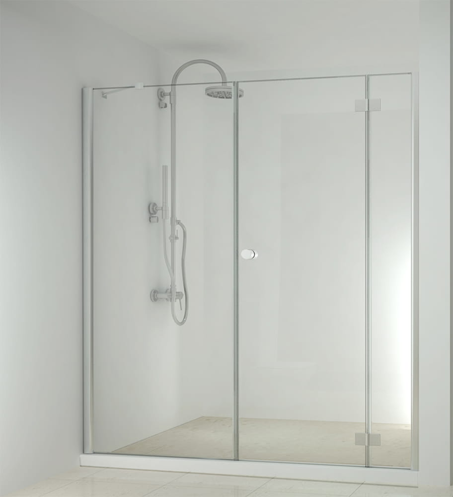 Sanotechnik - SMARTFLEX - Sprchové dvere do výklopného výklenku, pravé 170 x 195 cm