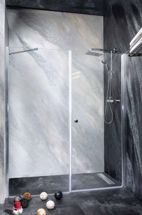 Sanotechnik - BRAVA - Sprchové dvere do výkyvného výklenku 190 x 195 cm