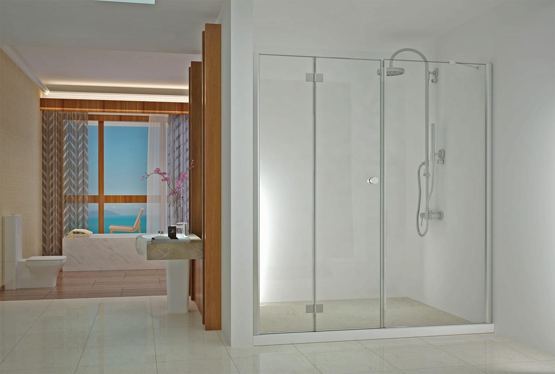 Sanotechnik - SMARTFLEX - Sprchové dvere do výklenku, výklopné, ľavé 160 x 195 cm