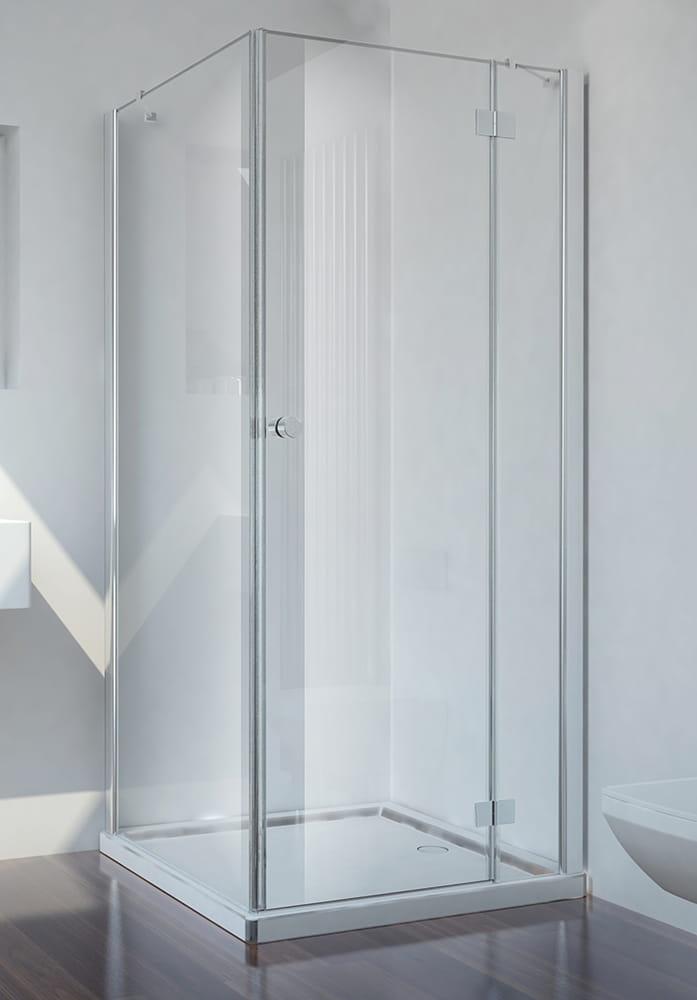 Sanotechnik - SMARTFLEX - Rohový sprchový kút hranatý, pravý 90 x 90 x 195 cm