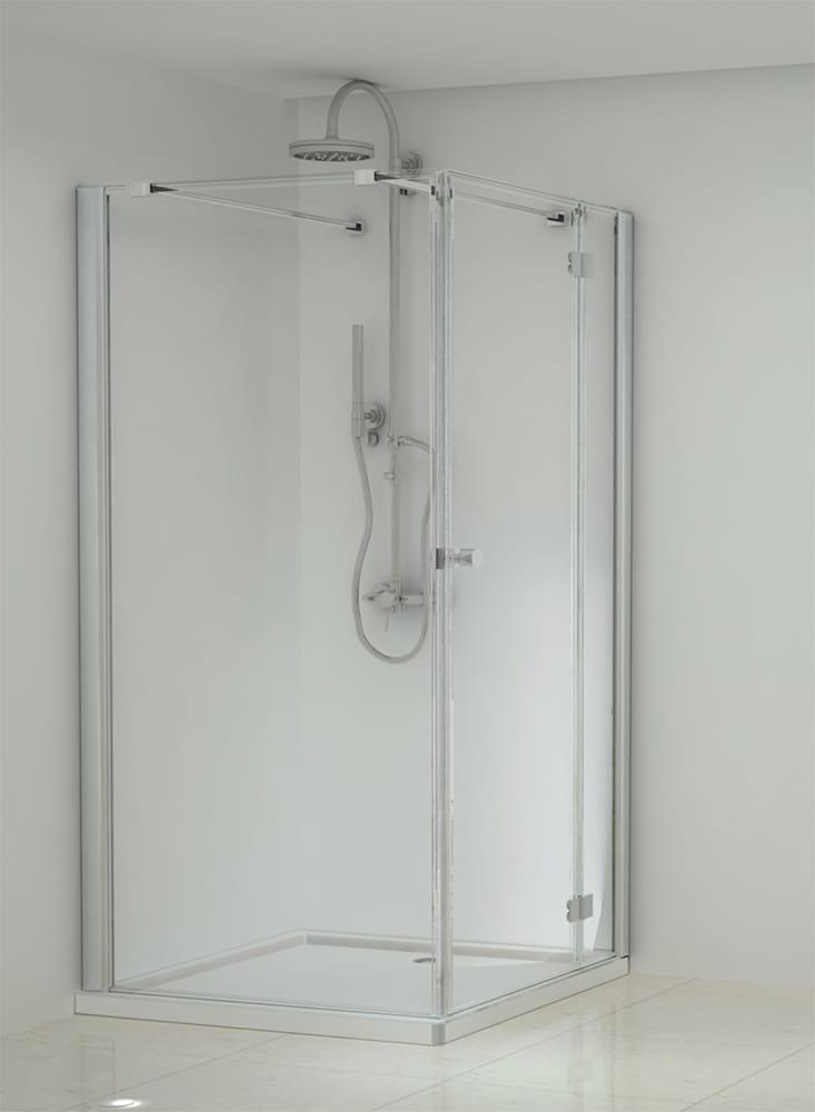 Sanotechnik - ELEGANCE - Rohový štvorcový sprchový kút pravý 100 x 100 x 195 cm