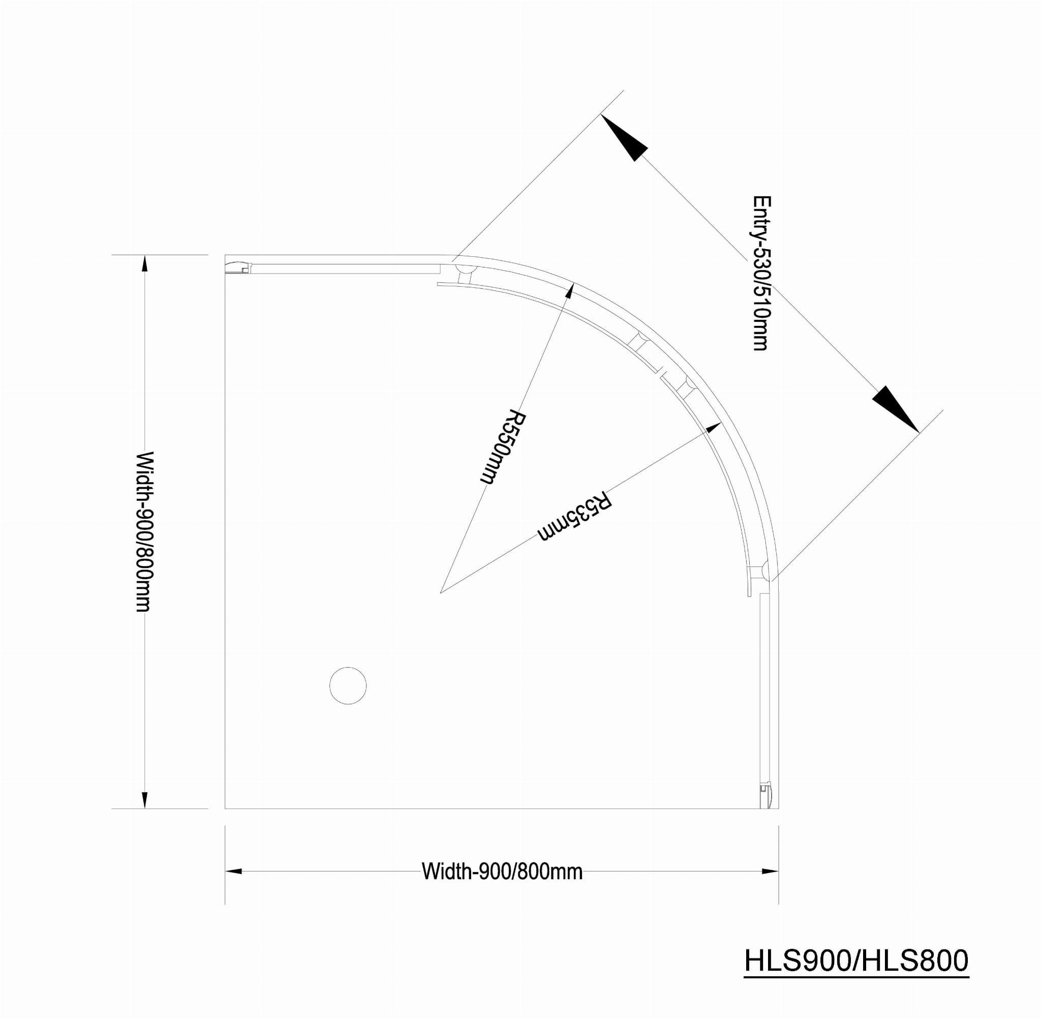 Arleta Kabina Prysznicowa Narożna Półokrągła 80x80x185 Cm Profil
