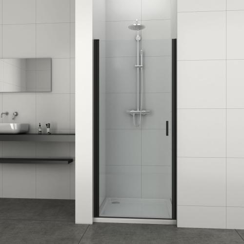 Elite Black Drzwi Prysznicowe Do Wnęki Skrzydłowe 80x195 Cm T80b